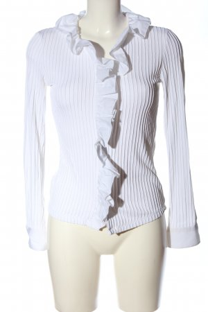 and Long Sleeve Shirt white casual look