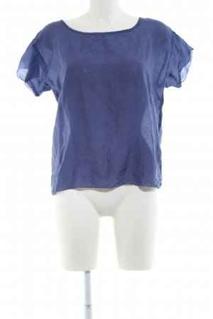 And Less Kurzarm-Bluse blau Business-Look