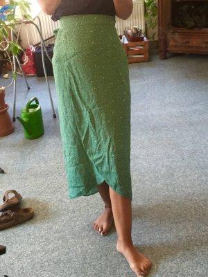 AndOtherStories Wraparound Skirt green