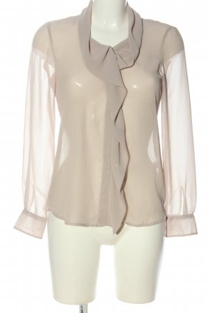 and Transparent Blouse natural white casual look
