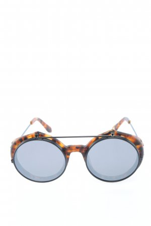 Anderne Round Sunglasses light orange-black allover print extravagant style