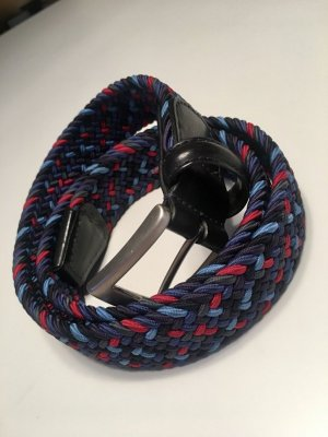 Braided Belt blue-magenta