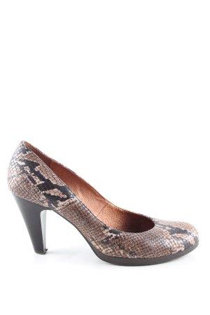 Andiamo High Heels braun-schwarz Animalmuster Casual-Look