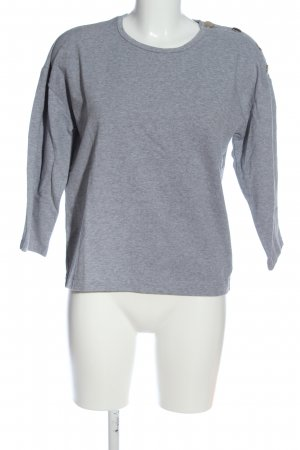 AndOtherStories Longsleeve light grey flecked casual look