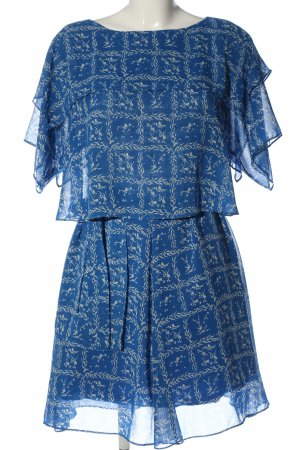 AndOtherStories Blouse Dress blue-natural white abstract pattern casual look