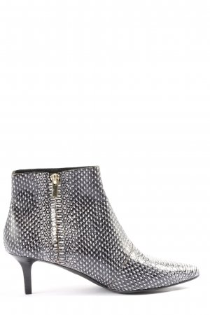 AndOtherStories Zipper Booties black-white allover print casual look