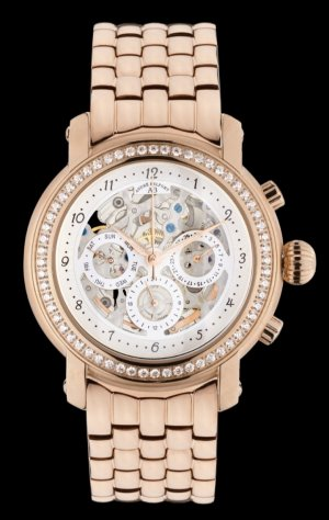 André Belfort Watch With Metal Strap rose-gold-coloured