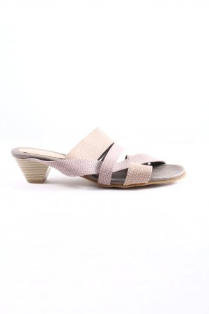 Andrea Conti Heel Pantolettes pink-cream casual look