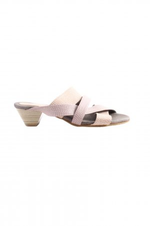Andrea Conti Heel Pantolettes natural white-pink casual look
