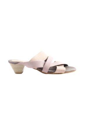 Andrea Conti Mule à talon blanc cassé-rose style décontracté