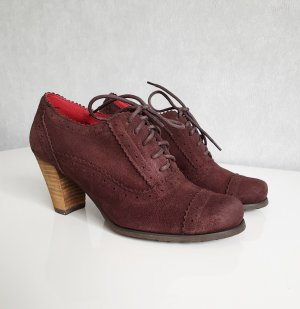 Andrea Conti Lace-up Pumps brown red leather