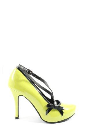Andrea Conti Wysokie obcasy bladożółty-czarny W stylu casual
