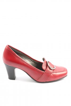 Andrea Conti Loafer rosso stile casual