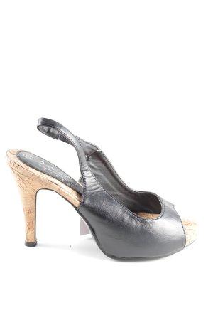 Andrea Conti Tacones con punta abierta negro elegante