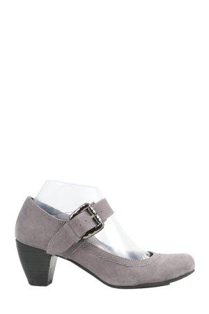 Andrea Conti Escarpins à lanière gris clair style décontracté