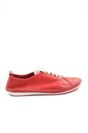 Andrea Conti Sznurowane trampki czerwony W stylu casual