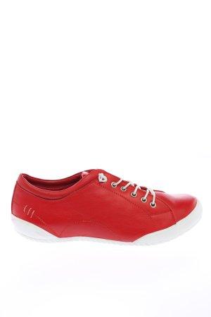Andrea Conti Zapatilla brogue rojo look casual