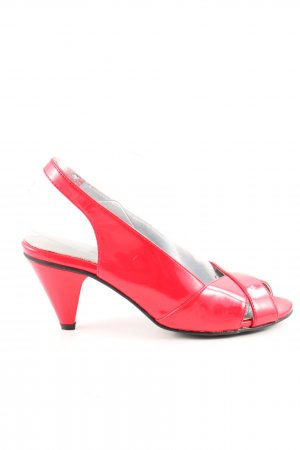 Andrea Conti Slingback pumps rood casual uitstraling
