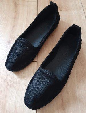 Andrea Conti Ballerines pliables noir cuir