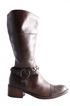 Andrea Conti Slouch Boots brown casual look