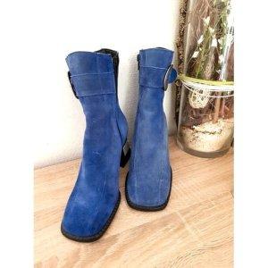 Andrea Conti Bottine d'hiver bleu acier cuir