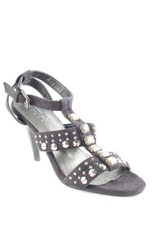 Andrea Conti T-Steg-Sandaletten schwarz Elegant