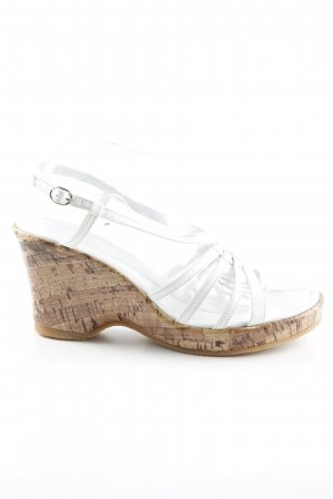 Andrea Conti Wedge Sandals white-beige beach look