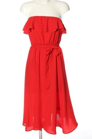 Andrea Hedenstedt x NA-KD Off the shoulder jurk rood elegant