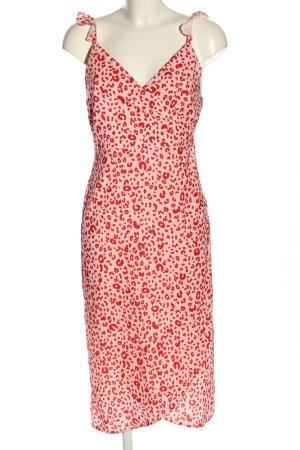 Andrea Hedenstedt x NA-KD Robe portefeuille rose-rouge motif léopard