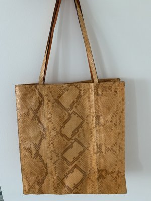 Shoulder Bag dark orange-brown leather