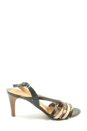 Andrea Manueli Hoge hakken sandalen luipaardprint casual uitstraling