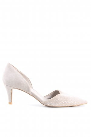 Andrea Manueli Pointed Toe Pumps light grey flecked casual look