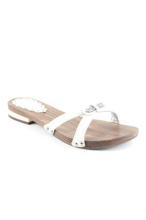 Andrea Pisani Riemchen-Sandaletten bronzefarben-creme schlichter Stil