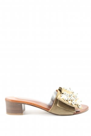Andrea Puccini Heel Pantolettes brown-cream casual look