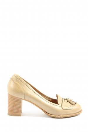 Andrea Puccini High Heels wollweiß Casual-Look