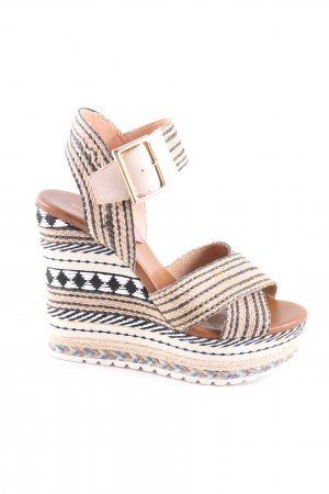 Andrea Puccini Platform High-Heeled Sandal mixed pattern elegant