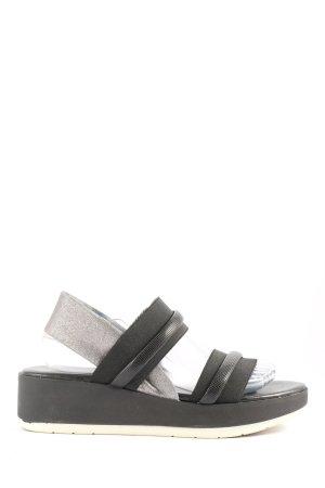 Andrea Puccini Sandalias de tacón con plataforma negro-color plata look casual