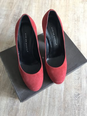 Andrea Puccini Plateauzool pumps donkerrood Suede