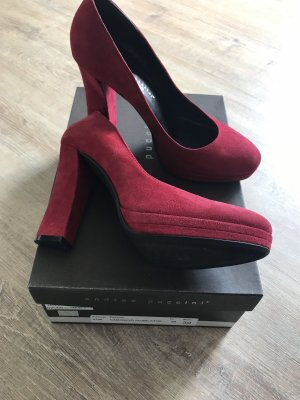 Andrea Puccini Platform Pumps dark red