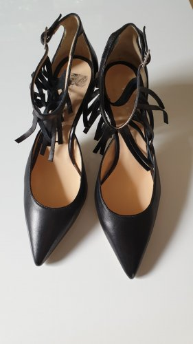 Andrea Puccini Pointed Toe Pumps black leather