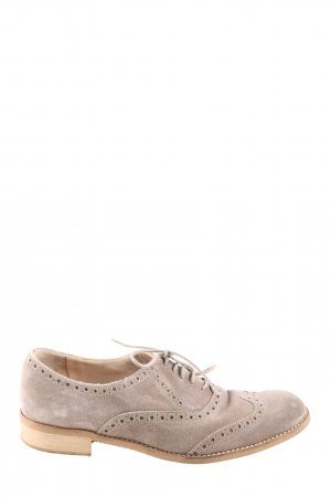 Andrea Puccini Lace Shoes light grey business style