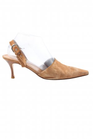 Andrea Puccini Slingback Pumps brown casual look