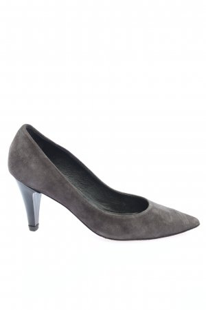 Andrea Puccini Spitz-Pumps hellgrau Business-Look