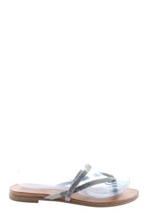Andrea Sabatini Sandales Dianette gris clair style décontracté