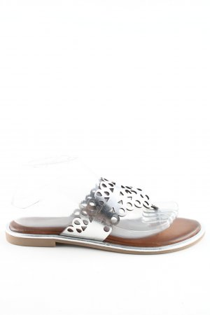 Andrea Sabatini Flip-Flop Sandals silver-colored-brown casual look