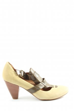 Andrea Sabatini High-Front Pumps natural white-brown casual look