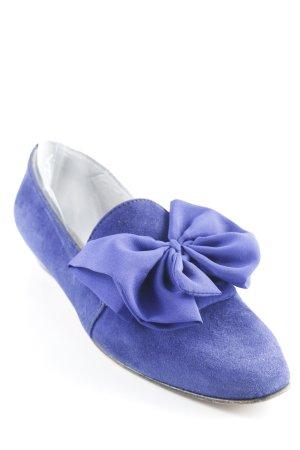 Andrea Sabatini Strappy Ballerinas blue violet casual look