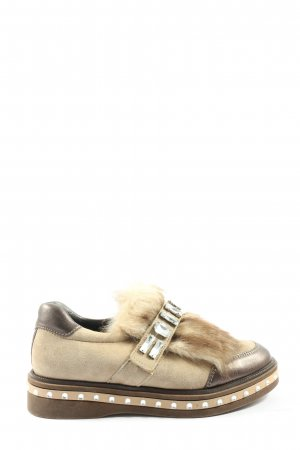 Andrea Sabatini Slip-on Shoes natural white-brown glittery