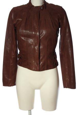 Andrew Marc New York Veste en cuir brun cuir