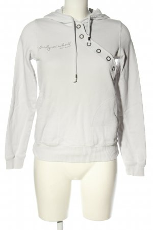 Andy Warhol by Pepe Jeans London Capuchon sweater lichtgrijs casual uitstraling